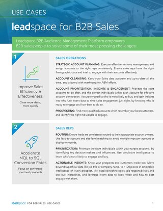 Leadspace for B2B Sales