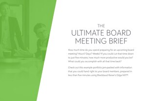 The Ultimate Board Meeting Brief