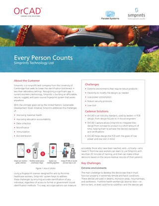 Every Person Counts: Simprints Story with OrCAD