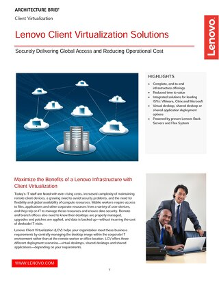 Lenovo Client Virtualization Solutions