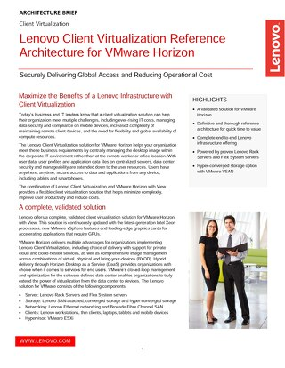 Lenovo Client Virtualization Reference