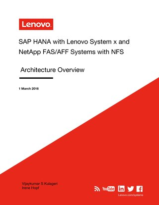 SAP HANA with Lenovo System x and NetApp FAS-AFF Systems with NFS
