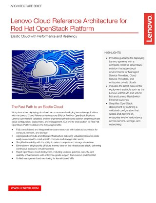 Architecture Brief - Lenovo Cloud Reference Architecture for Red Hat OpenStack Platform