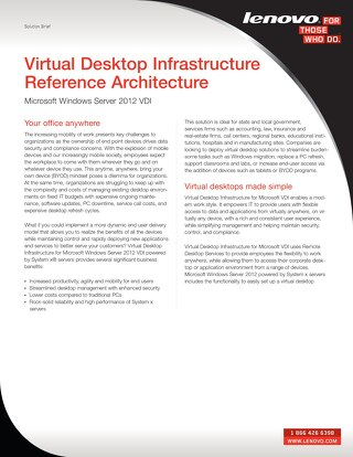 Virtual Desktop Infrastructure Reference Architecture