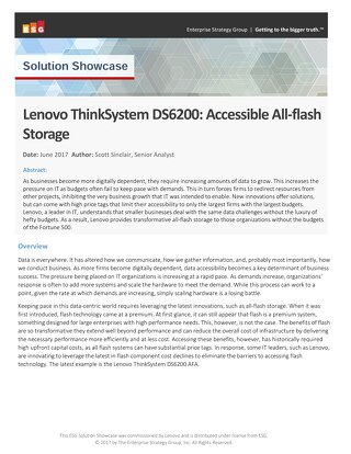 ESG - Lenovo ThinkSystem DS6200