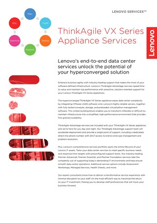 ThinkAgile VX Series Appliance Services