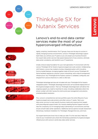 ThinkAgile SX for Nutanix Services