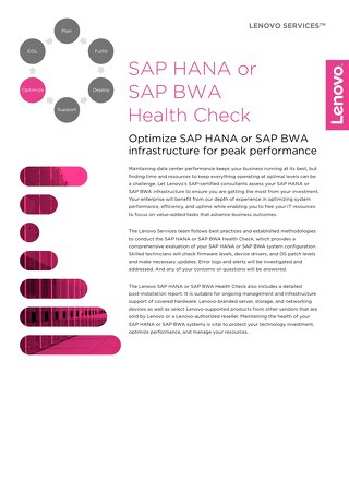 Lenovo Health Check Services for SAP HANA or SAP BWA
