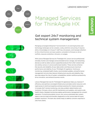 Lenovo Managed Services for ThinkAgile HX