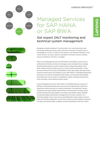 Lenovo Managed Services for SAP HANA