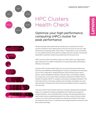 Lenovo HPC Cluster Health Check
