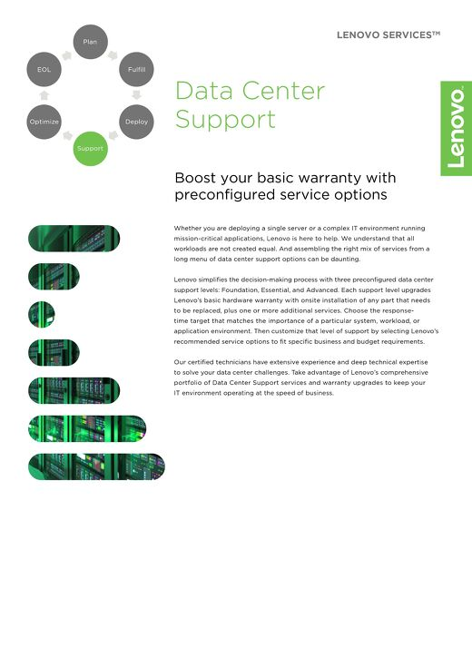 Lenovo Data Center Support Services
