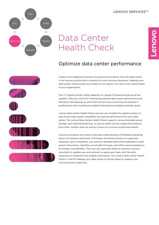 Lenovo Data Center Health Check