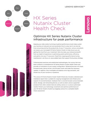 HX Series Nutanix Cluster Health Check