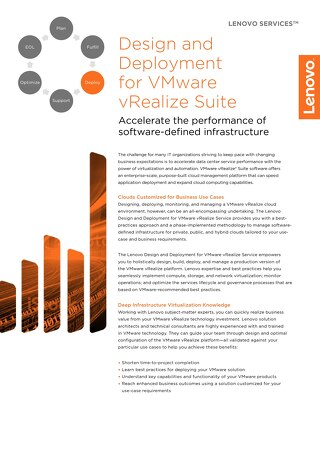Design and Deployment for VMware vRealize Suite