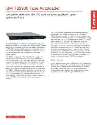 Storage TS2900 Tape Autoloader