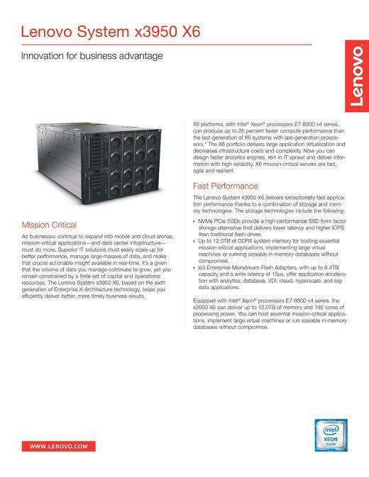 Lenovo System x3950 X6
