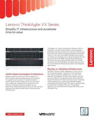 Lenovo ThinkAgile VX Series
