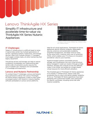 Lenovo ThinkAgile HX Series