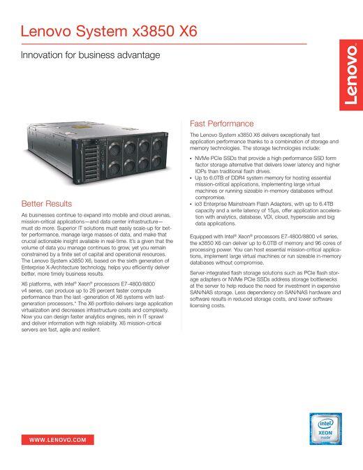 Lenovo System x3850 X6