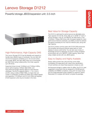 Lenovo Storage D1212