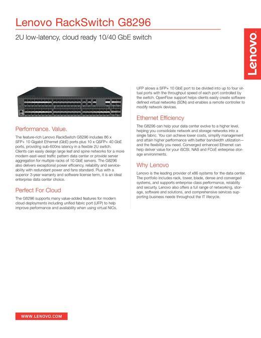 Lenovo RackSwitch G8296