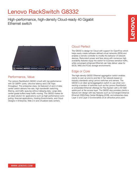 Lenovo RackSwitch G8332