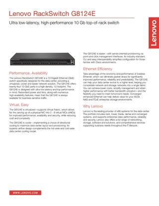 Lenovo RackSwitch G8124E