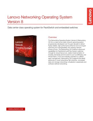 Lenovo Networking Operating Systems