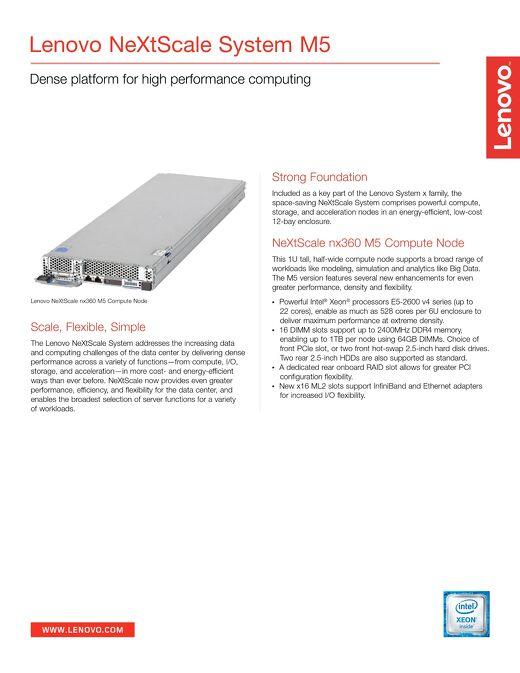 Lenovo NeXtScale System M5