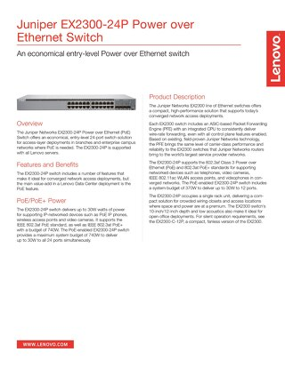 Juniper EX2300-24P Ethernet Switch