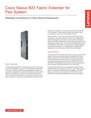 Cisco Nexus B22 Fabric Extender for Flex System