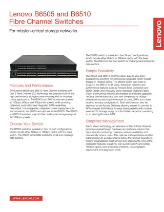 B6505 and B6510 Fibre Channel Switches