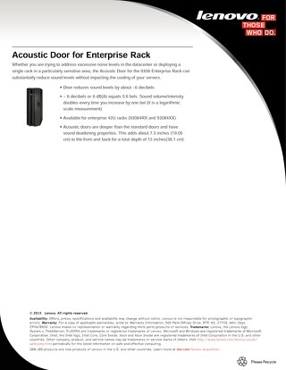 Acoustic Door for Enterprise Rack