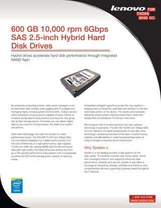 600 GB 10,000 rpm 6Gbps SAS 2.5-inch Hybrid Hard Disk Drives