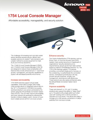 1754 Local Console Manager