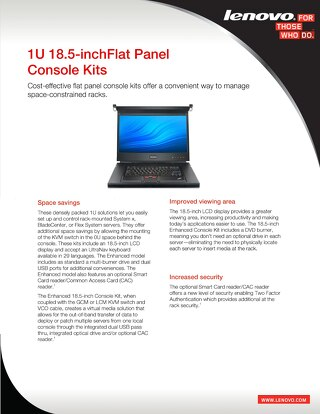 1U 18.5 in Flat Panel Console Kits