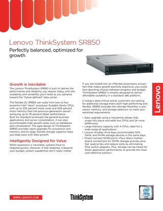 ThinkSystem SR850