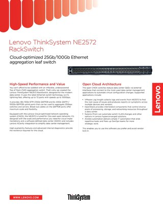 ThinkSystem NE2572 RackSwitch