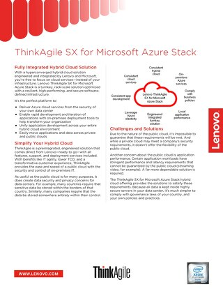 ThinkAgile SX for Microsoft Azure Stack