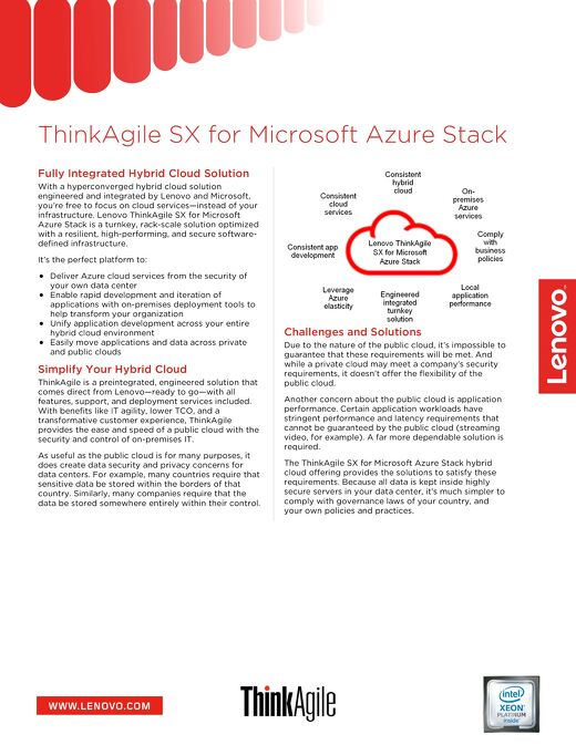 ThinkAgile SX for Microsoft Azure Stack