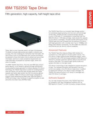 Storage TS2250 Tape Drive