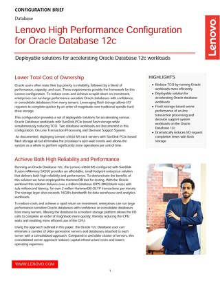 Lenovo High Performance Configuration for Oracle Database 12c