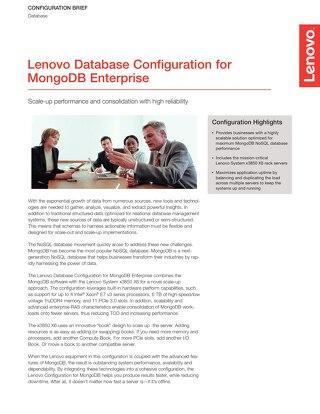 Lenovo Database Configuration for MongoDB Enterprise
