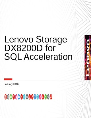 Lenovo Storage DX8200D for SQL Acceleration