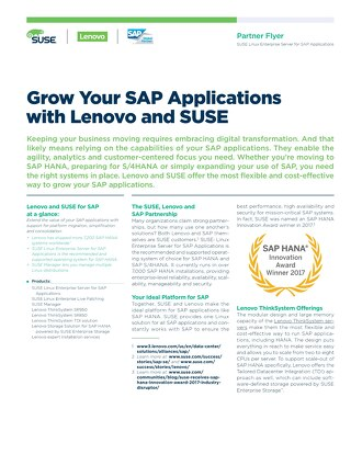 Lenovo SAP HANA SUSE Enterprise Storage Solution Brief