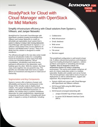 ReadyPack for Cloud with Cloud Manager with OpenStack for Mid Markets