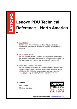 Lenovo PDU Technical Reference - North America