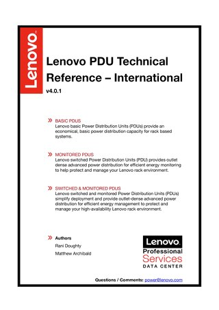 Lenovo PDU Technical Reference - International