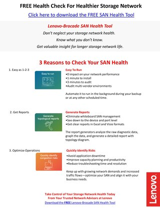Lenovo-Brocade SAN Health Overview